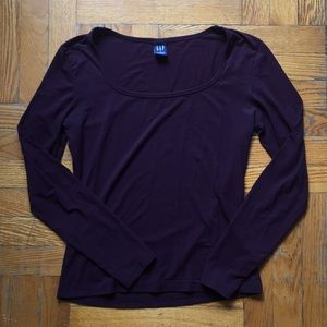 GAP eggplant fitted blouse